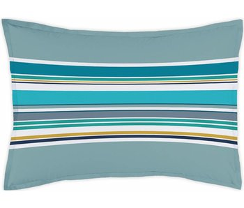 Matt & Rose Kussensloop Esprit Graphique Bleu Orage Decoratie 50 x 70 cm