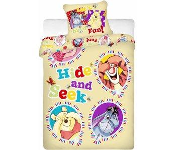Disney Winnie the Pooh Housse de couette Hide and Seek 140x200 cm + 70x90cm