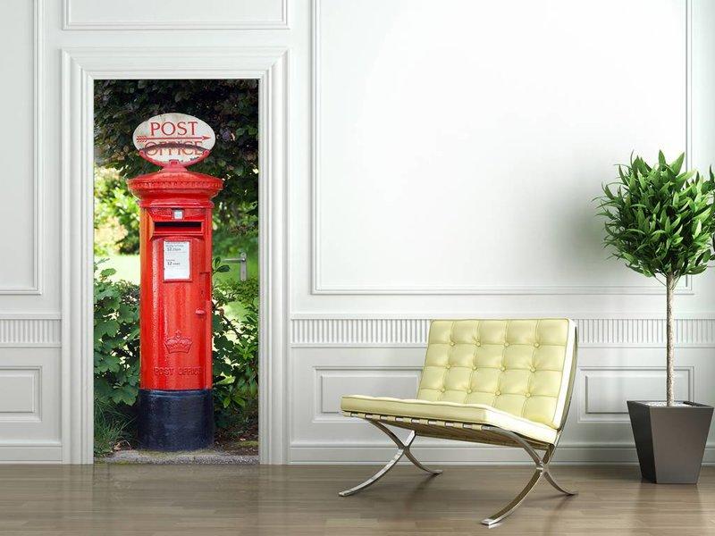 Fotobehang - Türposter - 86 x 200 cm - Rot