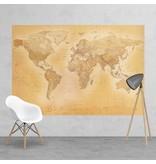 Fotobehang - carte ancienne petite - 232 cm x 158 cm - multi