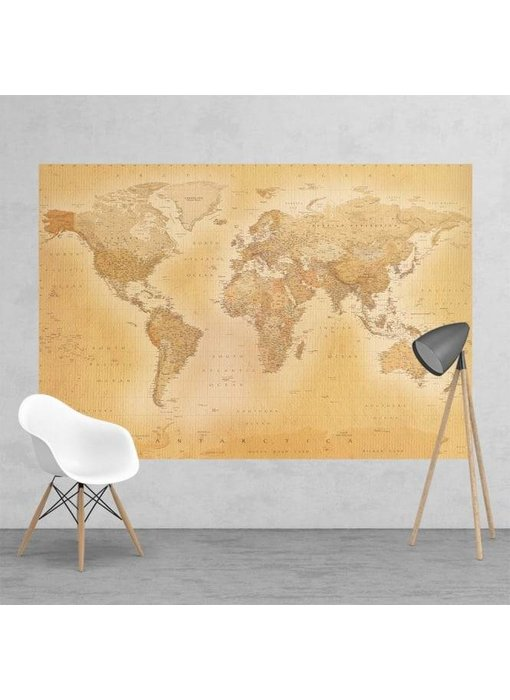 Fotobehang Old map small 232 x 158 cm