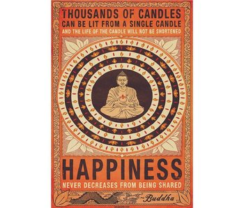 Buddha Fotobehang Candles Buddha