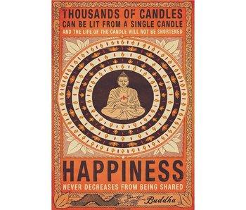 Buddha Mural Candles Buddha