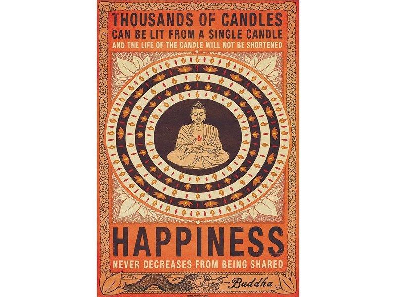Buddha Candles Buddha - Fotobehang - 232 x 158 cm - Multi