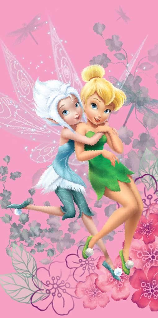 Disney Fairies Tinkerbell Winter Beach Towel 70 X 140
