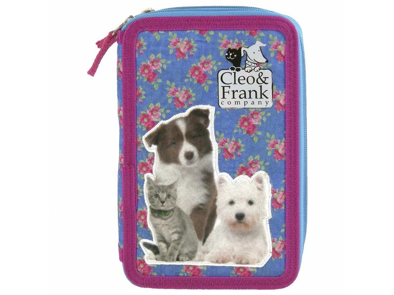 Cleo & Frank - Filled Pencil case - 28 pieces - Blue
