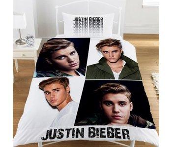 Justin Bieber Assemblée couette coton poly 140x200 + 50x75cm