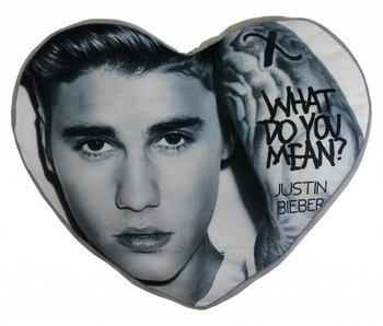 Justin Bieber Cushion Heart 40x35cm