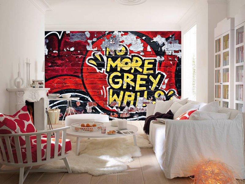 Fotobehang - No More Gray Walls - 366 x 254 cm - Multi