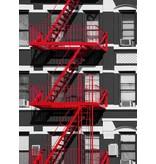 Fotobehang - Fire Escape - 183 x 254 cm - Multi