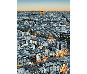 Fotobehang Paris Vue aérienne 183x254 cm