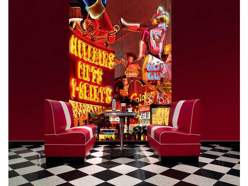 Fotobehang - Downtown Las Vegas - 183 x 254 cm - Multi