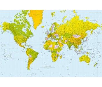 Fotobehang Carte du monde 175x115 cm