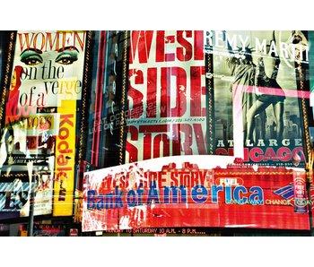 Fotobehang Les temps à quatre côtés histoires Neon 175x115 cm