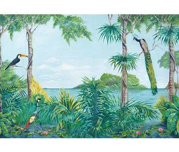 Fotobehang Blue Lagoon 366x254 cm