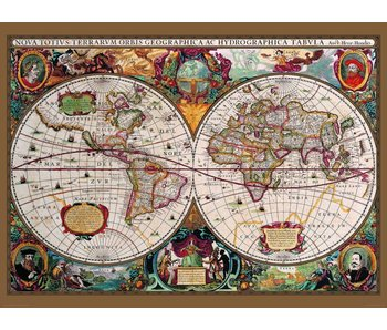 Fotobehang Antique map wallpaper