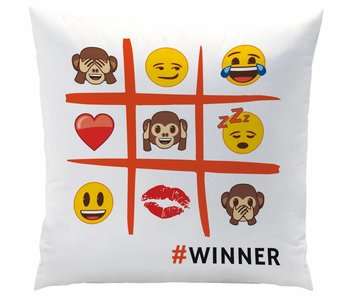 Emoji Coussin 40x40cm Polyester Emotions