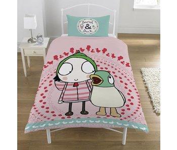 Sarah & Duck Dekbedovertrek Noisy Duck polycotton 140x200+50x75cm