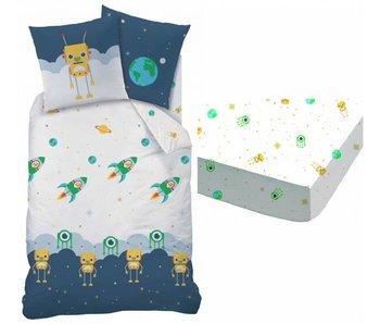 Matt & Rose Raum Bettbezug + Spannbettlaken