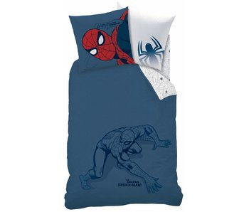 Spider-Man Dekbedovertrek Silhouette 140x200cm
