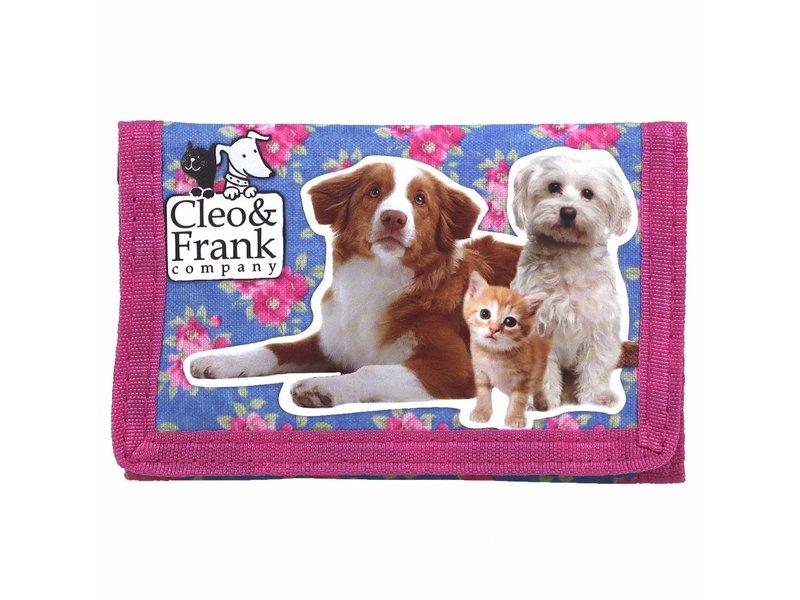 Cleo & Frank Kat en Hond - Portemonnee - 12 cm - Multi