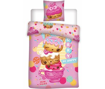 Num Noms Duvet cover Be Happy 140x200 + 63x63cm