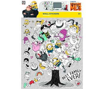 Minions Muursticker Despicable 3 Family Tree
