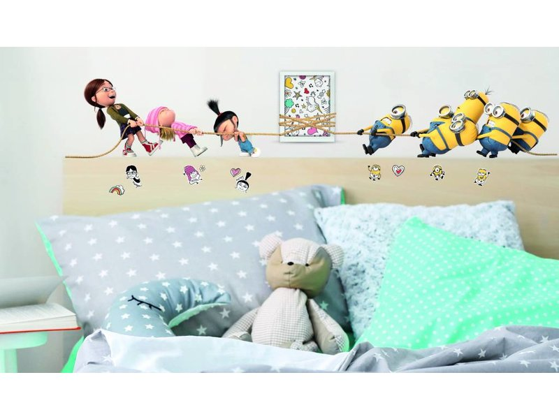 Minions Despicable 3 Tug of War - Wall Decal - Multi