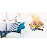 Minions Despicable 3 On vacation - Wall Sticker - Multi