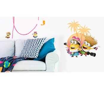 Minions Wall Decal Despicable 3 On vacation