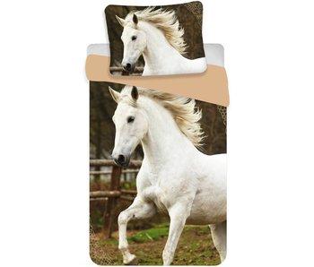 Animal Pictures Dekbedovertrek Wit Paard 140x200cm + 70x90cm