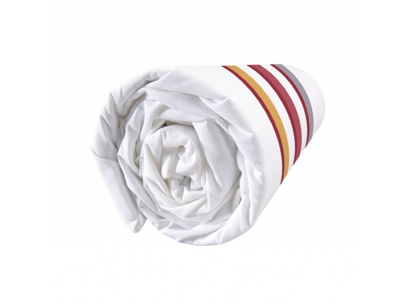 Matt & Rose Esprit graphique Terracotta - Hoeslaken - Tweepersoons - 140 x 200 cm - Multi