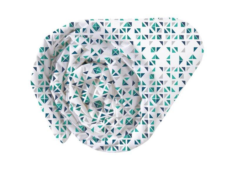 Matt & Rose Tendance mosaïque - Spannbettlaken - Doppel - 160 x 200 cm - Multi-