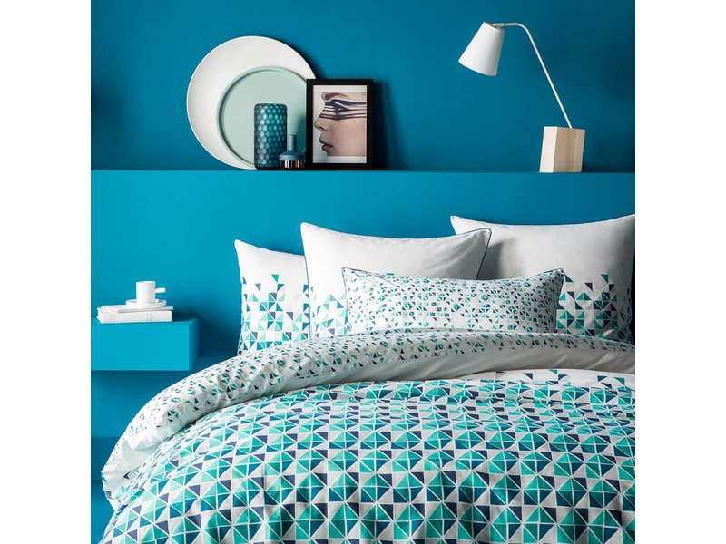 Matt & Rose Tendance Mosaic - Duvet Cover - Double - 200 x 200 cm - Multi - Includes 2 pillowcases