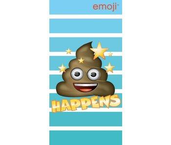 Emoji Happens drap de plage 70x140cm