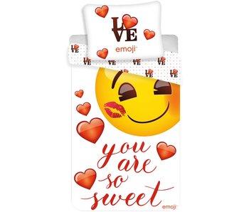Emoji Dekbedovertrek You are so Sweet