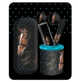 Animal Pictures My beautiful horse - Stationary set - 7 pieces - Black