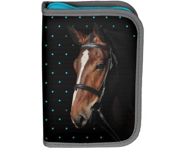 Animal Pictures filled pencil case My beautiful horse 23 pieces black