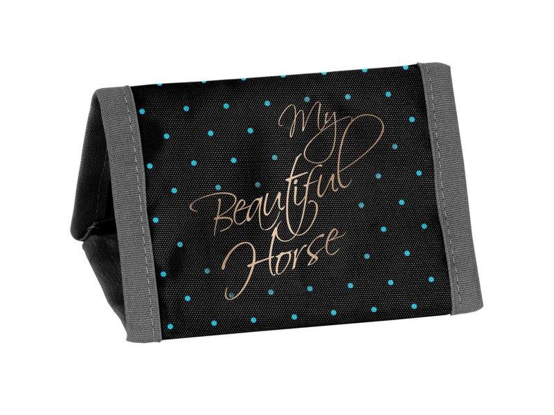 Animal Pictures Mon beau cheval - Porte-monnaie - 12 x 8,5 cm - Noir
