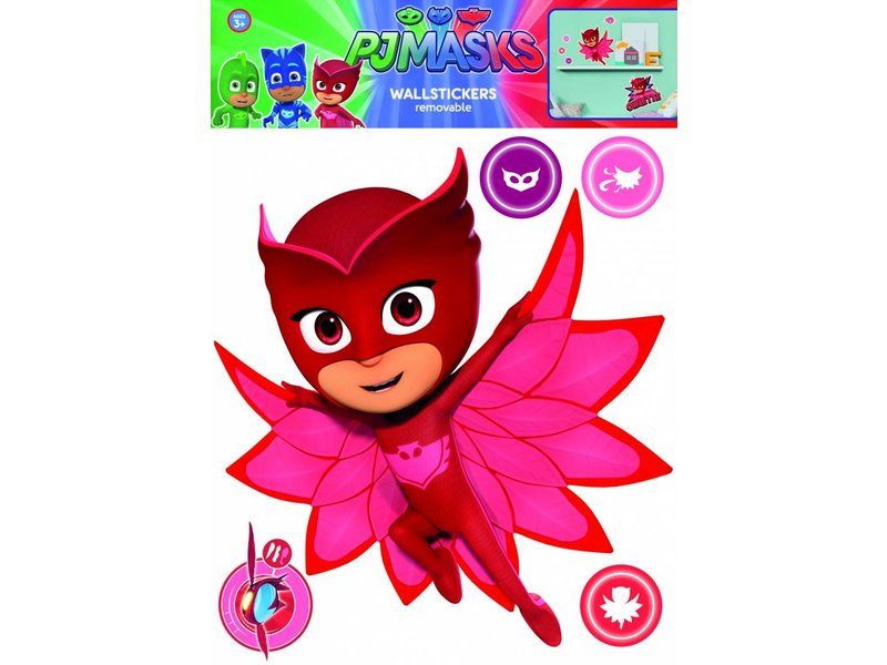 Pj Masks Owlette Wall Sticker Red Simbashop Nl