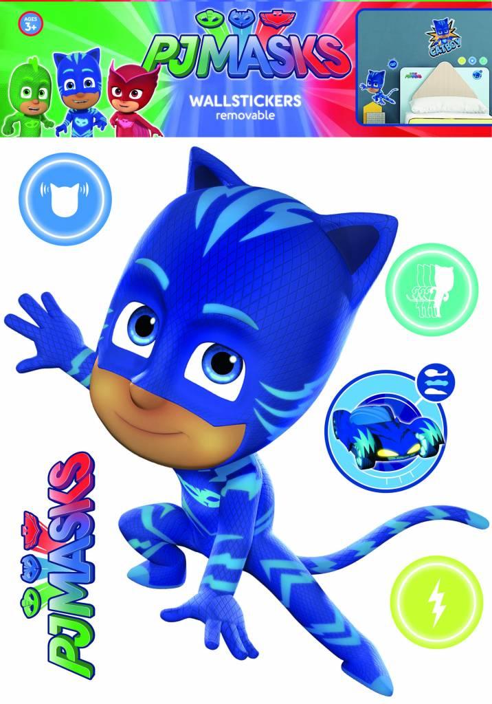 pj masks cat boy - wall decal - blue - simbashop.nl