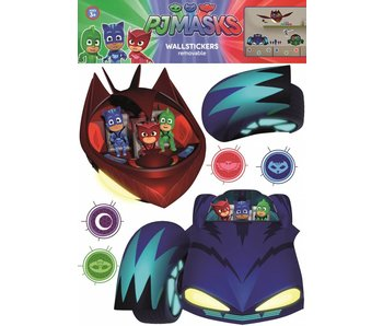 PJ Masks Wall Sticker Cars and Villains