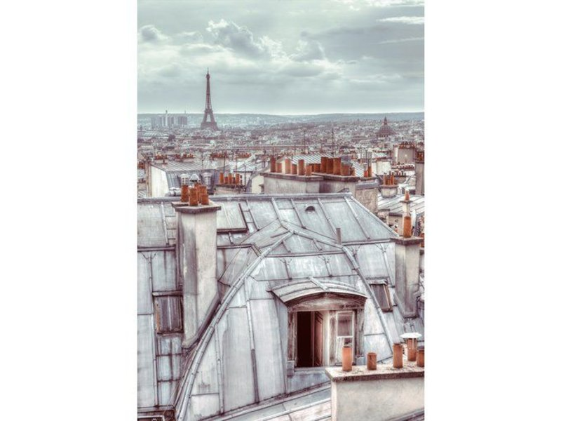 Fotobehang - Rooftop - Wallpaper - 158 x 232 cm - Multi
