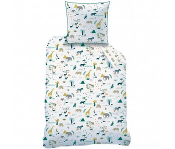 Matt & Rose Duvet cover Safari 140 x 200 + pillowcase 63x63 cm