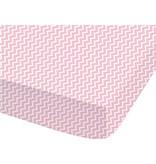 Matt & Rose Flamingo - Hoeslaken - Eenpersoons - 90 x 200 cm - Roze