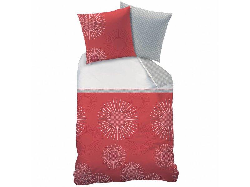 Style Zénith Bettbezug Einzel 140 X 200 Cm Rot Inklusive 1 Kissenbezug
