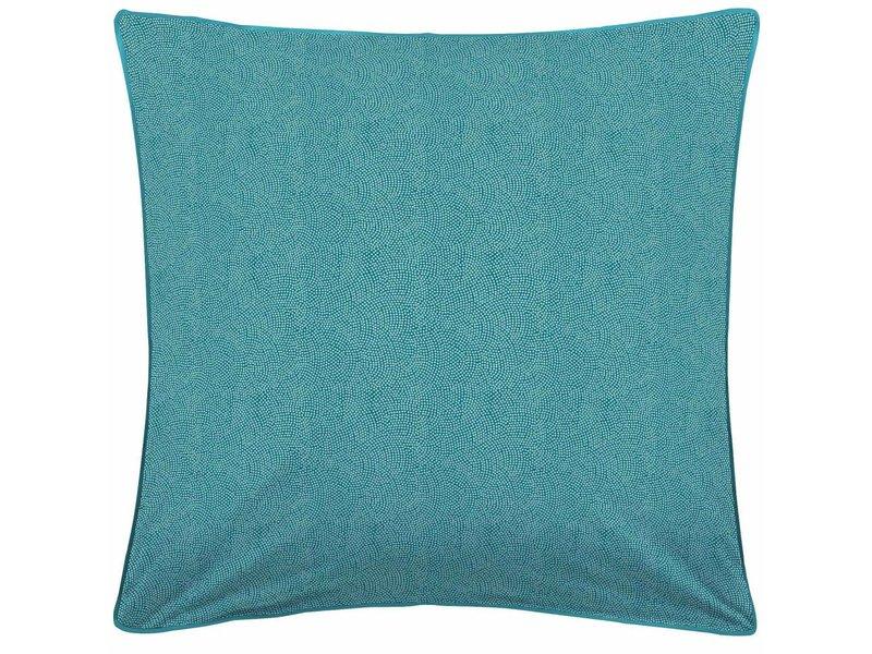 Matt & Rose Tendance Oasis - Dekbedovertrek - Tweepersoons - 200 x 200 cm - Turquoise, wit - Inclusief 2 kussenslopen