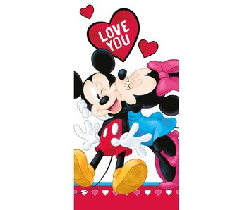 Disney Minnie Mouse Serviette de plage Love 70 x 140 cm