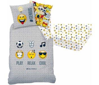 de7f71b8efc View Smiley World Set duvet cover + fitted sheet Mood