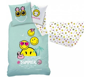 Smiley World Set duvet cover + fitted sheet Paradise